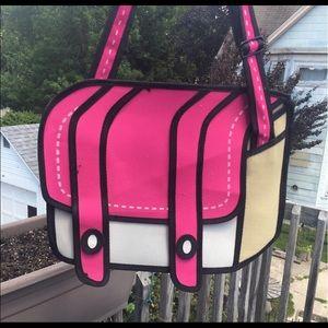 Handbags - 2d pink cute bag