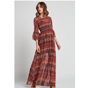 NWT BCBGeneration Boho Maxi Dress sz M