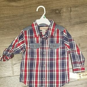 Other - Red and blue button down shirt