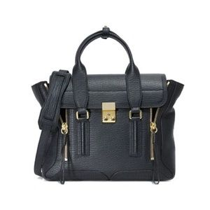 3.1 Phillip Lim Black Pashli Medium Satchel