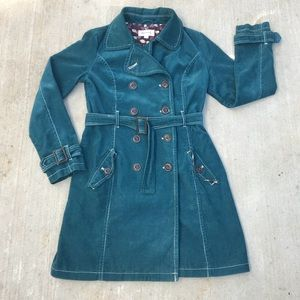 Corduroy Dbl Breasted Long Belted Pea Coat ⭐️EUC