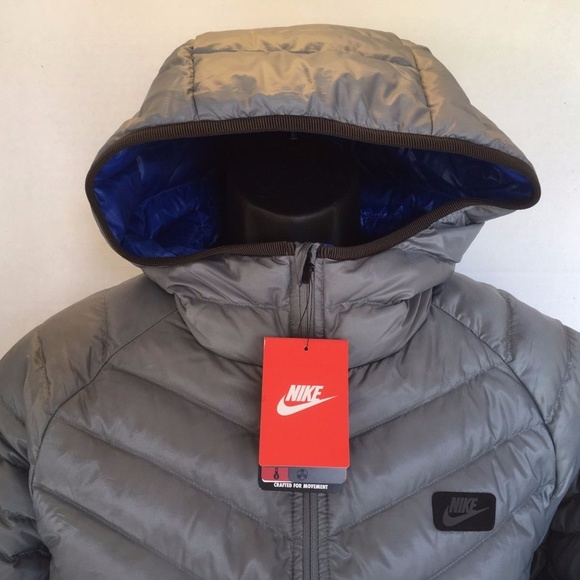 NEW NIKE HOODED GUILD 550 DOWN 693533 065 JACKET