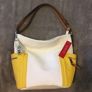 NEW Rossetti white daffodil convertible bag