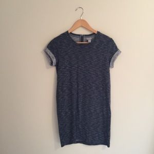 Kenar sweatshirt dress blue size xs zipped back