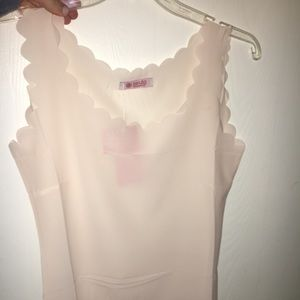 White Scalloped Shirt
