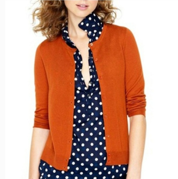 82% off J. Crew Sweaters - 100% Cashmere J. Crew Rust Orange ...