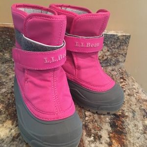 L.L Bean pink snow boots.