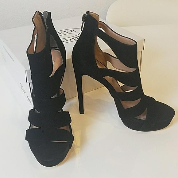 34f638de460 NEW Steve Madden Spycee black suede heels 6.5