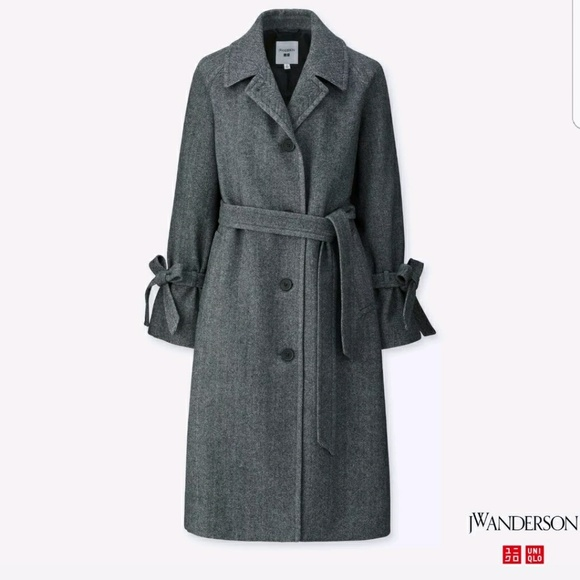 Uniqlo - JW Anderson for Uniqlo Gray Tweed Coat from Cassie's ...
