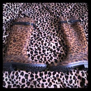 Leopard print Ralph Lauren rain boots