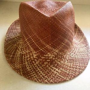 Lola millinery straw fedora hat