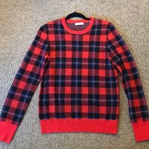 Equipment Femme Plaid Wool Sweater