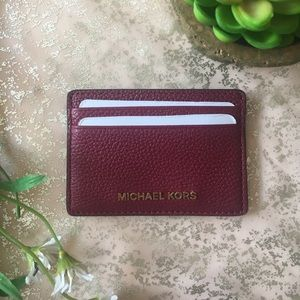 099246889967 Michael Kors Bags - NWT MICHAEL KORS MULBERRY LEATHER CARD HOLDER!