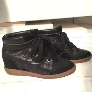 Isabel Marant Bobby Leather/Suede Sneakers