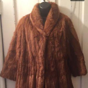Vintage brown fur coat S/M