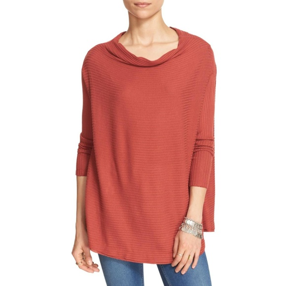 Free People Split Back Pullover Sweater  Lover Rib 1633b58d3