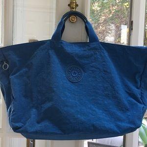 Kipling blue weekender tote bag