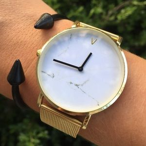Marble Minimalist Gold Luxury Metal Band Watch