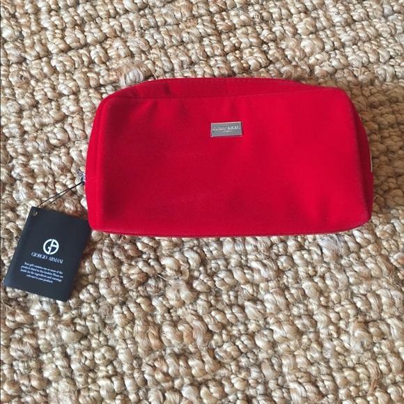 Giorgio Armani Bags   New In Bag Makeup Bag Red Velvet   Poshmark 13c21b16ab