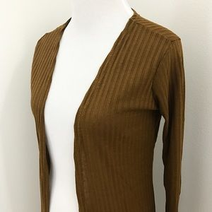 Sweaters - Golden Haze Slit Longline Cardigan