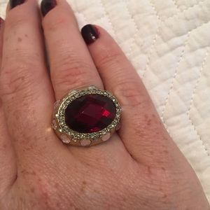 ⬇️ Reduced! Deep Red Gemstone Ring