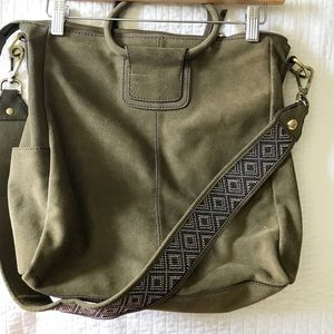 093145c0ea84 HOBO Bags – Sheila Suede Travel Crossbody Bag from HOBO (Sage)