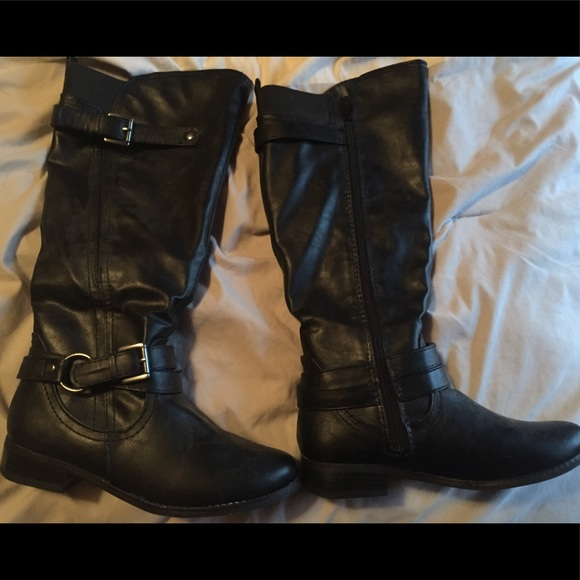 a237c75eb2152 jcpenney Shoes - Black mid calf riding boots
