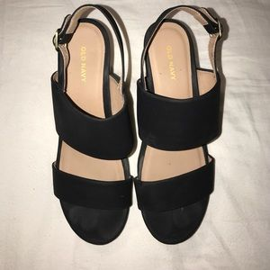 Black Open Toed Old Navy Clogs