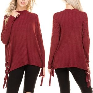 ADLER Buttery Soft Long Sleeve Top - WINE