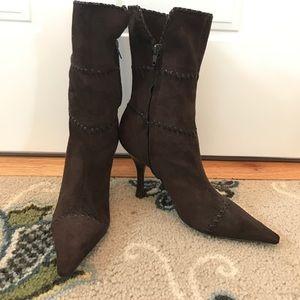 BCBGirls suede stitched boots!