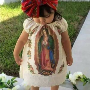 Our Lady of Guadalupe Dress & Headband for Todlers
