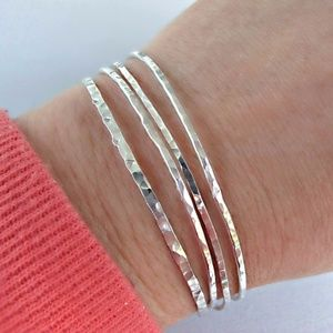 Sterling Silver l Bangle Bracelet Jewelry