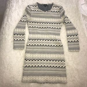 Topshop Black and White pattern dress - size 8