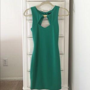 Asos Petite Kelly Green Dress w/ Cross-Straps Back