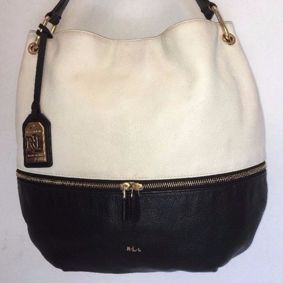 Lauren Ralph Lauren Handbags - Ralph Lauren RLL Black   White Color-Block  Purse b650f9b5fa
