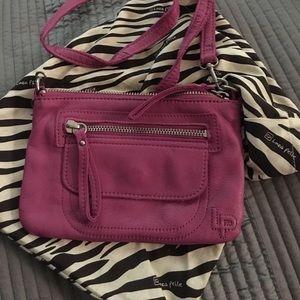Linea pelle crossbody pink handbag
