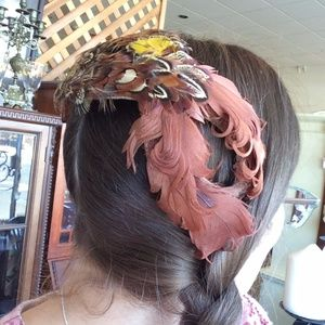 Bohemian Pheasant Feather Hat Caplet
