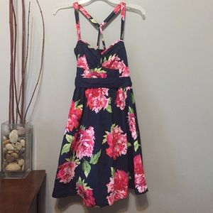 Abercrombie and Fitch navy floral dress sz small