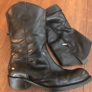 Made in Italy All Leather Black Boots Size 37