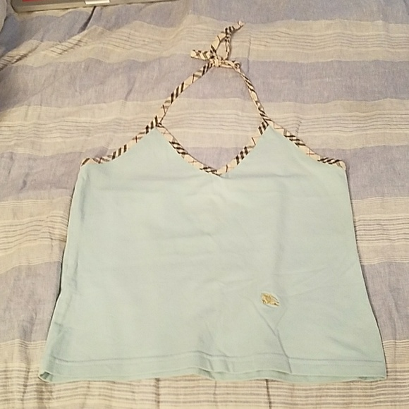 69f356059505 Burberry Tops - Burberry Blue and Signature Plaid Piping Halter