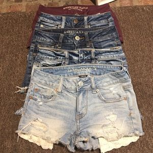 5 pairs of American eagle shorts size 0/00
