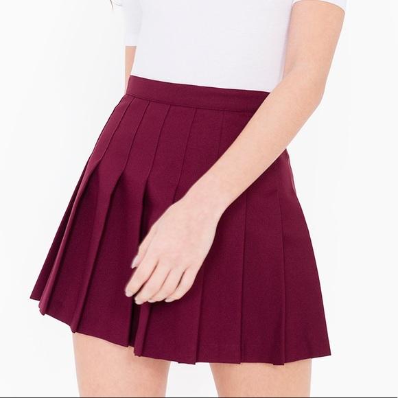 0130dc7fc69101 American Apparel Skirts | Maroon Wine Pleated Tennis Skirt | Poshmark