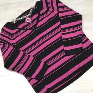 Apostrophe striped knit top