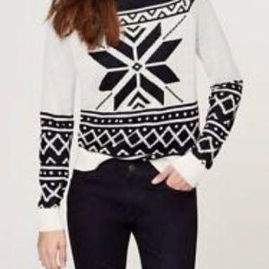 LOFT Sweaters - Snowflake Sweater