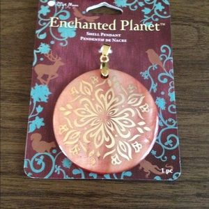Jewelry - NEW (on card) Dark peach color necklace enhancer