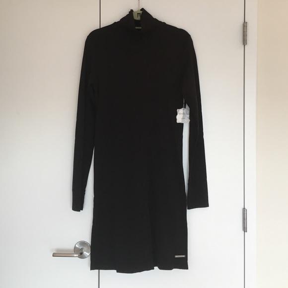 Side Zip Turtleneck Dress
