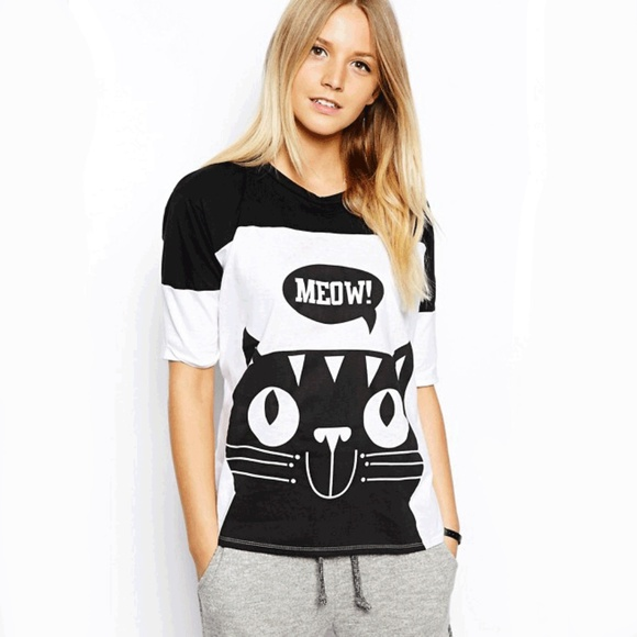 ASOS Tops - Meow Tee