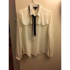 Jason wu for target long sleeve sheer blouse white