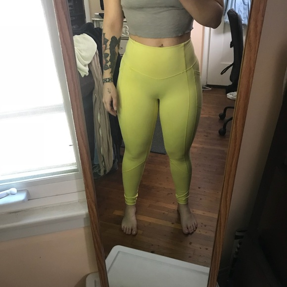 8fa6a37b1e1db Yellow Till You Collapse Workout Tights. M_59d7db3f7fab3a05c101836e
