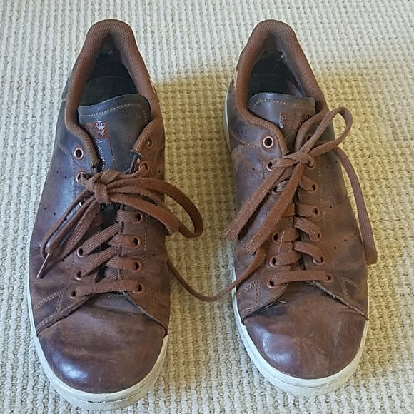 sports shoes 3a135 04952 RARE Adidas Stan Smith brown leather sneakers 11